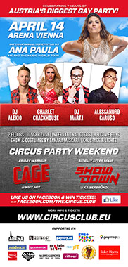 Circus Club Vienna 18 - Airline! - with DJ Ana Paula, DJ Alexio, Charlet Crackhouse, Mart.i & Alessandro Caruso Party Flyer